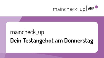Banner maincheck_up Donnerstag
